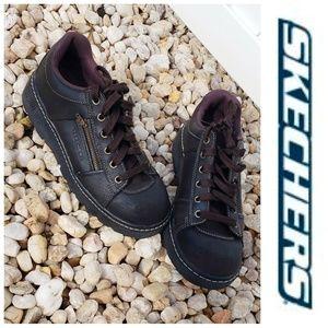 Skechers Leather Women's Oxfords Size 9 Zip Pocket